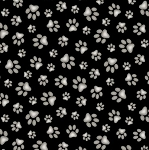 Adorable Pets - Paw Prints - Black