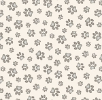 Adorable Pets - Paw Prints - Cream
