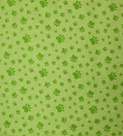 Fat Quarter - Caterwauling - Paws - Green