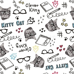 Cats Rule - Clever Kitties - White