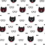 End of Bolt Piece - Dapper Cats - 25