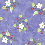 Fat Quarter - Happy Catz - Floral - Purple