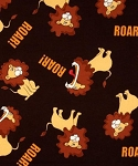 End of Bolt Piece - Flannel - Jungle Friends - Tossed Lions - 15