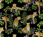 Fat Quarter - Leopards - Scenic