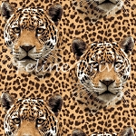 On the Wild Side - Leopard Faces - Brown