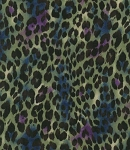 Fat Quarter - Return to Africa - Cheetah Spots - Green