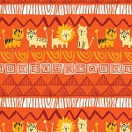 Serengeti Beasties - Orange - Organic Cotton