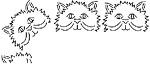 Quilting Stencil - Happy Cat Border - Large (4