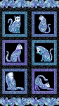Cat-i-tude - Singing the Blues - Panel - Black