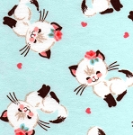 Flannel - Cutie Cats - Blue