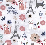 Fat Quarter - Parisian Cats
