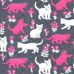 End of Bolt Piece - Flannel - Luxe Cats - Heather - 6