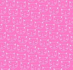 Flannel - Cat Faces - Pink