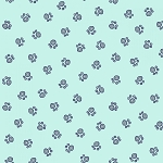 Flannel - Paw Prints - Gray on Aqua