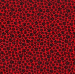 Paw Prints - Black on Red