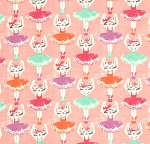 Fat Quarter - Flannel - Super Snuggle Flannel - Ballerina Cats