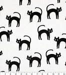 Flannel - Super Snuggle Flannel - Black Cats - Glow in the Dark