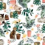 Everyday is Caturday - Cats & Plants