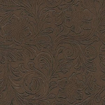 Faux Leather - Floral - Brown