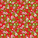 Fat Quarter - Christmas Basics - Festive Polka Dot
