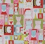 Fat Quarter - Christmas Time - Kitty Kristmas - Mint