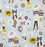 Nicole's Prints - Cool Cats - Blue/Gray