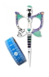 Cat Scissors & Tape Measure - Blue