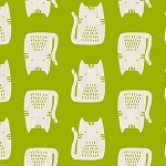 Cats and Dogs - Cats - Green