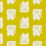 Cats and Dogs - Cats - Yellow