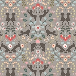 Purrfect Petals - Love Cats - Gray