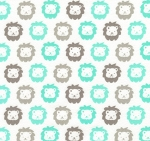 Fat Quarter - Flannel - Cozy Cotton Flannel - Lions - Mint