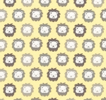 Flannel - Cozy Cotton Flannel - Lions - Yellow