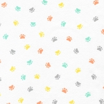 Fat Quarter - Flannel - Little Savannah Flannel - Paws - Pastel