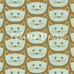 Fat Quarter - Blush - Cat Nap - Mint