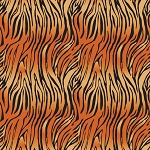 On Safari - Bengal Tiger Stripes - Orange