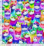 Mask Up - Bright Cats with Masks
