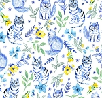 Blue Muse - Garden Cat - White