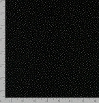 Fat Quarter - Metallic Pin Dots - Black