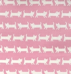 Tip Top Cats - Pink - OXFORD CLOTH