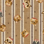Cat Toss on Stripe - Brown - CANVAS