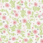 Fat Quarter - Flannel - Cozy Cotton Flannel - Pink Flowers