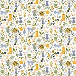 Meant To Bee - Gardening Cats - White
