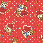 End of Bolt Piece - Pocket Kitten - Valentine Toss - Red - 10