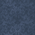Fat Quarter - Aged to Perfection - Softened Damask - Navy