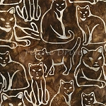 End of Bolt Piece - Artisan Batiks - Feline Fine - Chestnut - BATIK - 9