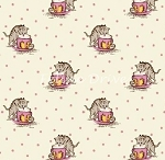 Fat Quarter - Aunt Grace - Kittens - Pink