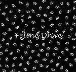 Fat Quarter - Bare Essentials Deluxe - Paw Prints - White on Black