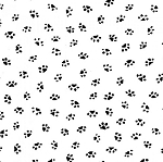 Bare Essentials Deluxe - Paw Prints - Black on White