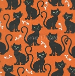 Bats & Black Cats - Bone Appetit - Orange