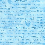 Be Pawsitive - Cat Words - Blue